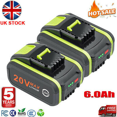 £22.99 • Buy 2 Pack 20V 4.0Ah Lithium Battery Replacement For Worx WA3551 WA3553 WX386 WX176
