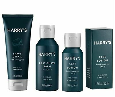 £18 • Buy Set Of 3: Harry's Men's Shave Cream   Post-Shave Balm   Face Lotion