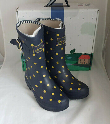 £41.99 • Buy Joules 209675 Molly Welly Navy Ladybird Mid Height Wellingtons Wellies Size 8
