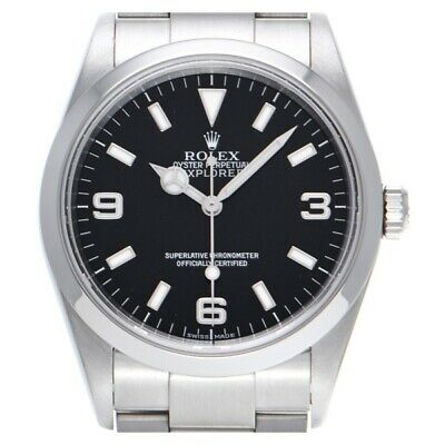 $ CDN11267.96 • Buy Free Shipping Pre-owned Rolex Explorer 114270 Black Dial Self-Winding