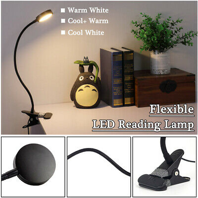 AU26.62 • Buy LED Reading Lamps Flexible 5W Dimmable Bedside Desk Lamp USB Ports+AU Adapter