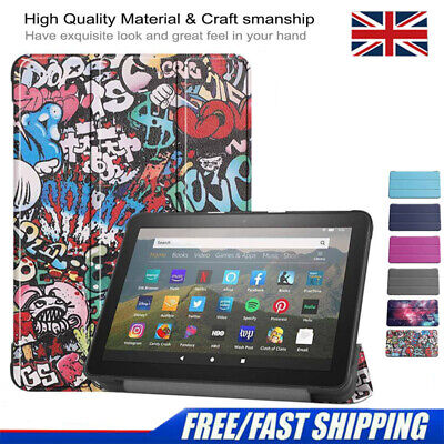 £7.68 • Buy Case For Amazon Kindle Fire HD 8 /HD 8 Plus 2020 Leather Smart Stand Flip Cover