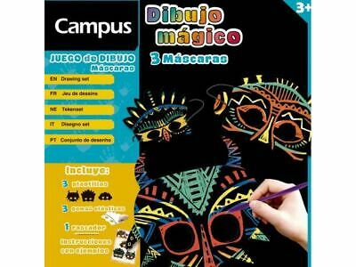 £3.49 • Buy Magical Campus Foil Scratch Off Masks Art Drawing Sheets Kit Age 3+
