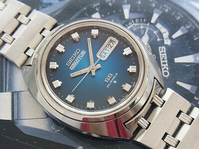 $ CDN250.77 • Buy Vintage Seiko 5 Actus Model 6106-7600 Nice Blue Dial Automatic 25 Jewels Watch