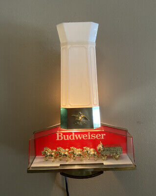 $ CDN62.93 • Buy Vintage Budweiser King Of Beers Clydesdale Horse Sign Bar Wall Light