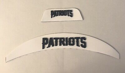 $35 • Buy New England Patriots  Front And Rear 3D Bumpers Riddell Full Size Flex Helmet