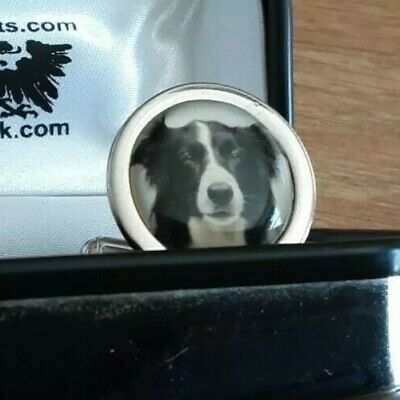 £9 • Buy Men's Novelty Cufflinks With Border Collie In A Lovely Presentation Box.