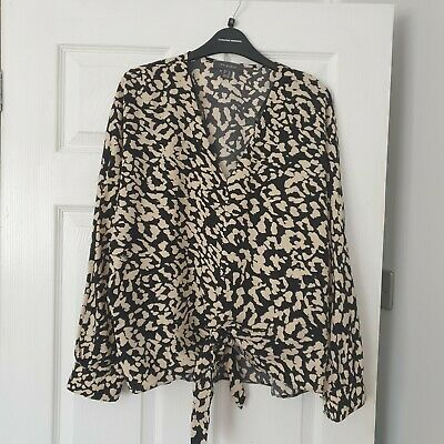 £1.99 • Buy Beautiful Tie Front Top Size 14 Must See