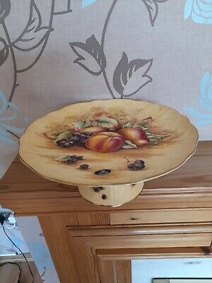 £73 • Buy Aynsley Orchard Gold. Footed Cake Plate.