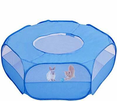 £16.93 • Buy Small Animal Playpen Pet Cage Tent For Hamsters Bunny Rabbits Kitten, Blue
