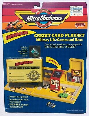 $12.50 • Buy Micro Machines INSIDERS Credit Card Playset - Military I.D. / Command Base