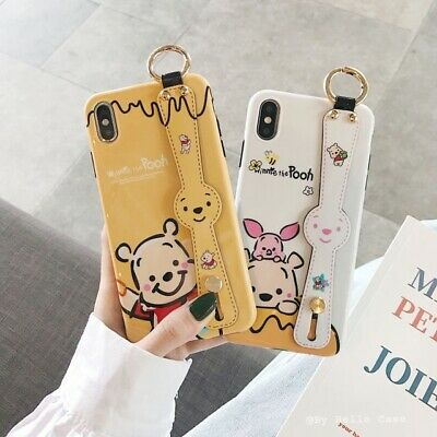 AU12.73 • Buy For IPhone 11 12 Pro Max Xs XR 7 8 Plus SE 2020 Cute Cartoon With Strap Case