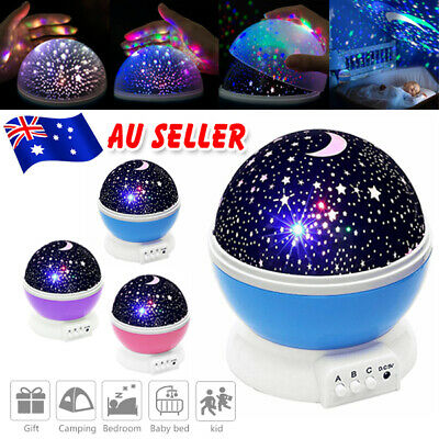 AU14.95 • Buy LED Night Light Moon Star Sky Projector Baby Kids Room Party Galaxy Starry Lamp