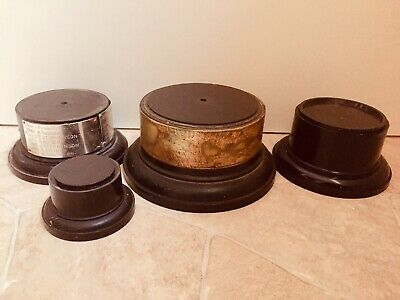 £27.95 • Buy X4 Large Bakelite Shabby Chic Trophy Bases / Stands - Ideal For Display #685