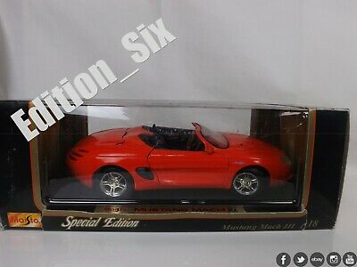 AU3.74 • Buy Maisto 1:18 FORD MUSTANG MACH III Speedster Roadster American Muscle Car RED
