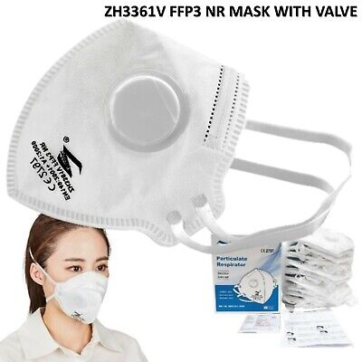 £4.74 • Buy Ffp3 Nr Face Mask Sealed 4 Ply High Filtration Protection Cover Masks With Valve
