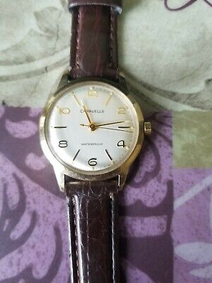 $25.99 • Buy Vintage Gold Color CARAVELLE By BULOVA 32mm Man Hand-wind Watch