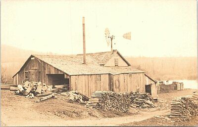 $24.19 • Buy RPPC Logging Scene Homestead And Small Lumber Mill Early 1900s