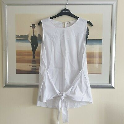 £3.19 • Buy River Island White Tie Front Top Size 16 Must See