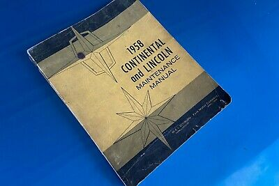 $20 • Buy 1958 Continental And Lincoln Maintenance Manual