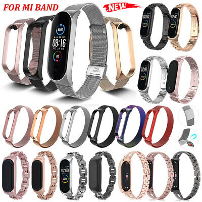 AU13.67 • Buy For Xiaomi Mi Band 6 5 4 3 Metal Milanese Stainless Steel Wrist Watch Strap Link