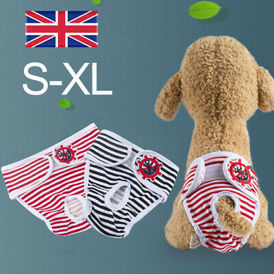 £1.39 • Buy Female Dog Diaper Nappy Physiological Sanitary Underwear Pants Puppy Short Pants