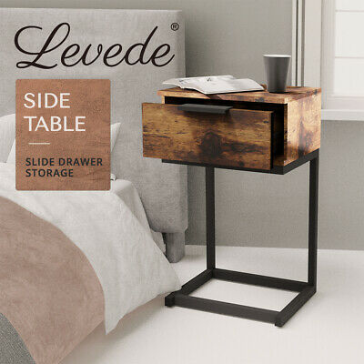 AU51.99 • Buy Levede Bedside Tables Drawers Side Table Wood Nightstand Storage Cabinet Unit
