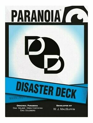 £14.99 • Buy Paranoia RPG Disaster Card Deck Roleplaying Game Supplement Mongoose Publishing