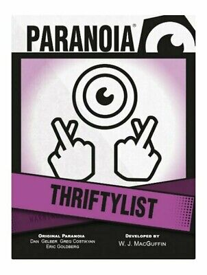 £15.99 • Buy Paranoia RPG Thriftylist Card Deck Roleplaying Game Supplement Mongoose Pack