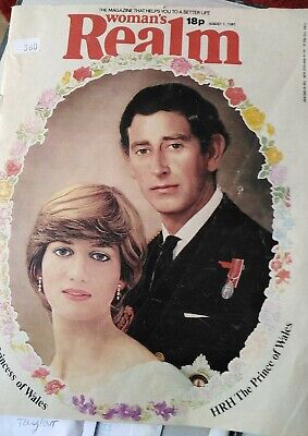 £0.99 • Buy Womans Realm Prince Charles And DIANA 1/08/1981
