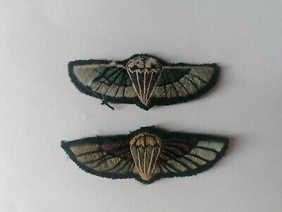 £50 • Buy X2 SAS British Airbourbe Qualification Wings Patches, Worn On WW2 Smock