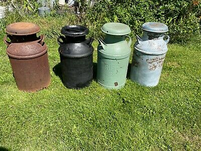 $70 • Buy 10 Gal Milk Can For Front Porch, Vintage Milk Jugs From Western Pennsylvania