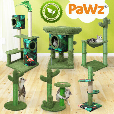 AU35.99 • Buy PaWz Cactus Cat Trees Towers Scratching Post New Scratcher Furniture Large Green