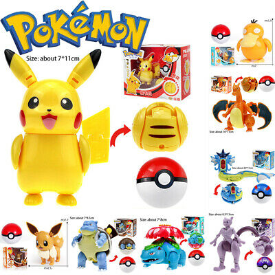 £13.49 • Buy Pikachu Transformation Toy For Pokemon Ball Koduck Action Figure Solgaleo Gifts