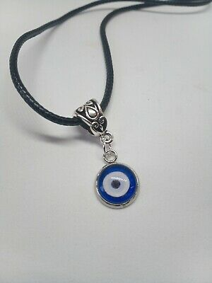 £4.95 • Buy Evil Eye Blue Necklace Eyeball , Lucky Gothic Greek Steampunk Gift Wrapped