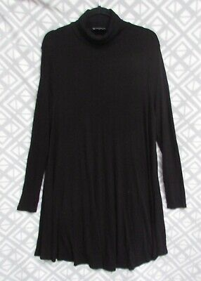 AU12 • Buy ASOS Plus Size  22 Black Ribbed Roll Neck Long Sleeves A-Line  Dress