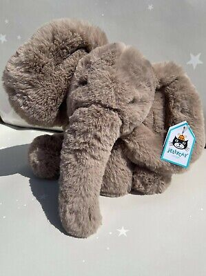 £24.99 • Buy Jellycat Smudge Elephant Soft Toy Brown Elly - Medium 34cm New / Tags Genuine