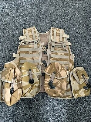 £9.99 • Buy British Military Desert DPM MOLLE Tactical Load Carrying Webbing Vest & Pouches