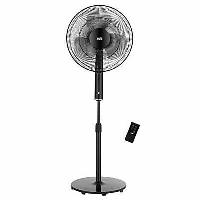 £54.97 • Buy ANSIO Pedestal Fan With Remote Control - 3 Speed Level -16 Inch - Black
