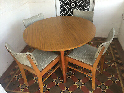 AU150 • Buy Retro Vintage Mid Century Dining Table And 4 Chairs