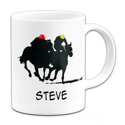 £7.99 • Buy Personalised (Any Name) Horse Racing Sillouette Gift Mug
