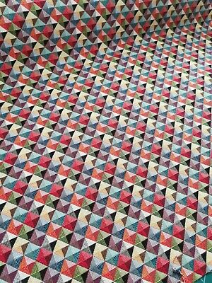 £6.85 • Buy Triangles Tapestry Fabric, Upholstery, Soft Furnishings, Curtains, Geometric