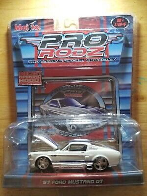 $12.74 • Buy Maisto '67 FORD MUSTANG GT White  Pro Rodz  1:64th Scale