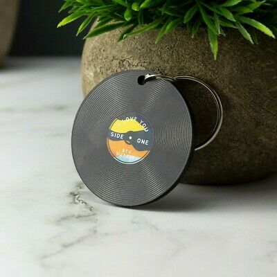 £5.99 • Buy Personalised Vinyl Record Keyring Music Our Song Keychain Custom Music Gift