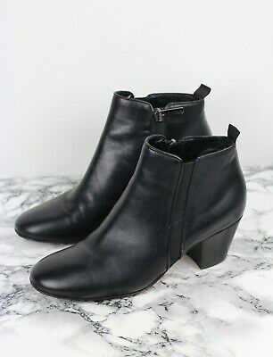 £79.99 • Buy AQUATALIA RUSSELL & BROMLEY Black Leather Ankle Boots, Size EU 38 / UK 5