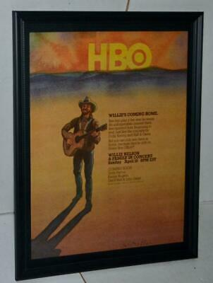 $34.99 • Buy Willie Nelson 1983 Hbo Special Willie & Family Promotional Concert Poster / Ad