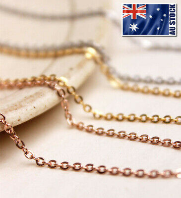 AU5.29 • Buy Stunning 18K Rose Gold Filled 1.5mm Classic Chain Necklace 16 - 30  Good Quality