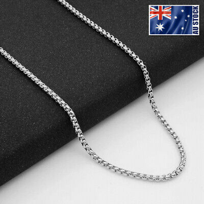 AU3.99 • Buy Wholesale Stainless Steel Square Rolo Box Cylinder Chain Necklace Mens & Womens