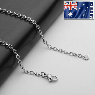 AU3.59 • Buy Wholesale Stainless Steel Rolo Link Chain Necklace For Pendants Mens & Womens