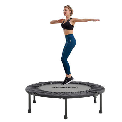 £39.95 • Buy 38 Foldable Mini Trampoline Aerobic Exercise Gym Fitness Bungee Rebounder Jumper